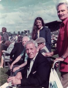 Harry Harding St Dunstans warblind veteran at Goodwood races with Melody