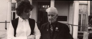 "Melody's mum Marie with Albert Finch - from the book ""Blind Man's Vision"""