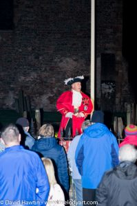 Remembrance Sunday 2018 in Porlock led by Town Crier Grant Dennis