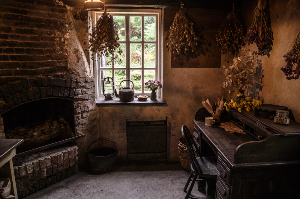 The Gardener's Office in The Lost Gardens of Heligan