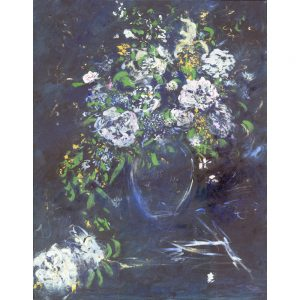 Renoir's Flower in acrylic on canvas