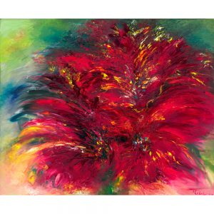 Flower Of Love floral painting of red flower