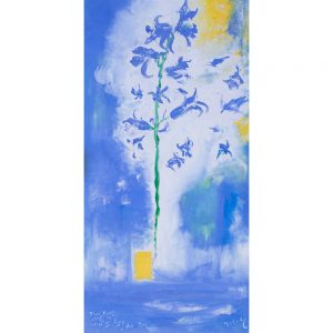 Bluebells With The Tree-Of Life a painting in oil on canvas