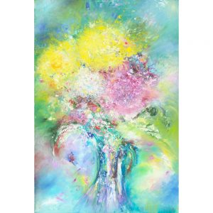 Overflowing - abstract flower painting