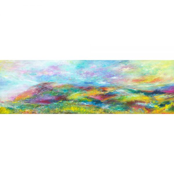 I'm Flying - Selworthy - Exmoor landscape painting in oil on canvas