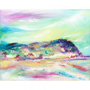 North Hill Minehead landscape painting