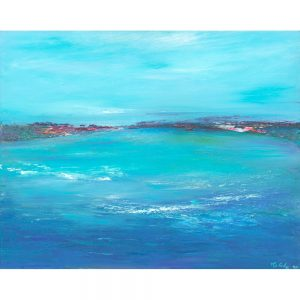 Taking Time To Watch The Waves - seascape painting in oil painting on canvas