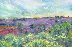 A New Season landscape painting