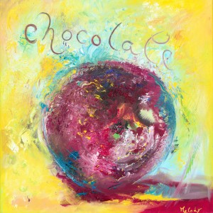 Chocolate original oil painting on canvas
