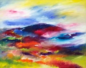 Dunkery Beacon Exmoor landscape painting
