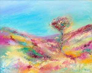Exmoor Tree original landscape painting in oil on canvas
