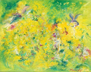 Gorse On Exmoor floral painting