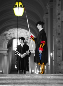 Pierced For My Transgressions - photograph of The Swiss Guard at The Vatican