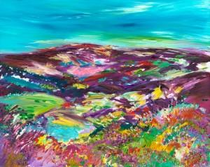 Purple Headed Mountain Exmoor landscape painting