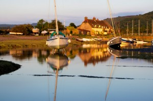 Reflections At Porlock Weir coastal photo in the evening light