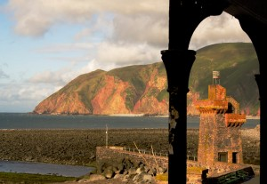 Rhenish Tower coastal photo at Lynmouth