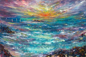 Sailing Home seascape painting