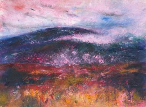 Strolling Along With You Exmoor landscape painting