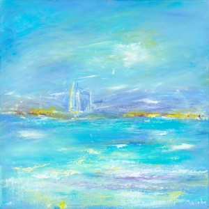 Summer Tide original seascape painting in oil on canvas