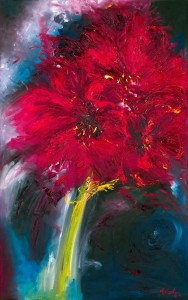 Victory flower painting of amaryllis