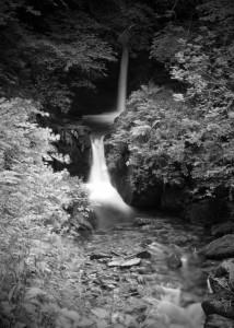 Watersmeet Upper Falls b&w landscape photo
