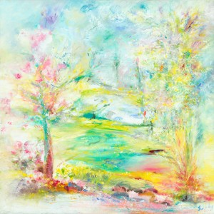 Yesterday Today and Forever landscape painting